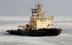 icebreaker, St. Petersburg, ice, sea, Gulf of Finland