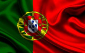 portugal, satin, flag, Португалия, атласа, флаг