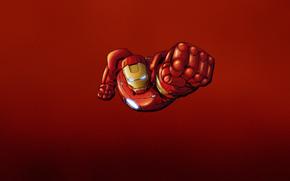 man of iron, comic strip, steel, red