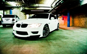 BMW, white, compartment, lights, parking, Mercedes Benz, Pipe, bmw