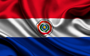 paraguay, raso, bandiera, Paraguay, Atlante, bandiera