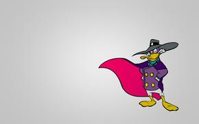 черный плащ, селезень, ЧП, darkwing duck, минимализм, фиолетовый