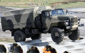 ural, truck, military, front, test, background, Other machinery and equipment