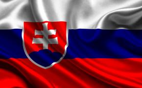 slovakia, satin, flag, Slovakia, Atlas, flag