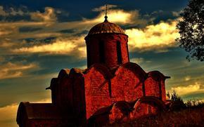 fortress, Russ, Russia, castle, brick.