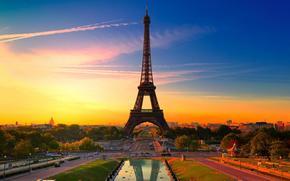 Stadt, Paris, Eiffelturm, Himmel, Kunst