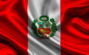 peru, satin, flag, Peru, Atlas, flag