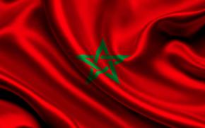 morocco, satin, flag, Morocco, Atlas, flag