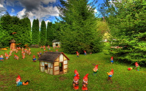 Germany, Truzetal, zwergenpark, park, landscape