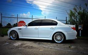 BMW, Color blanco, tonos, perfil, CD, esgrima, Seal de stop, lnea de transmisin, BMW