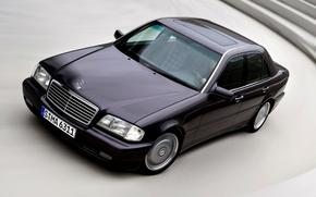 Merc, merseles, schwarz, Auto, Maschine, Rate, Fahrer, Mann, Strae, Beleuchtung, Rad, Rotation, Mercedes