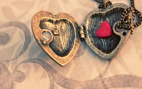 макро, кулон, створки, сердечко, подвеска, металл, цепочка