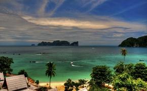 tropici, costa, Isole, paesaggio