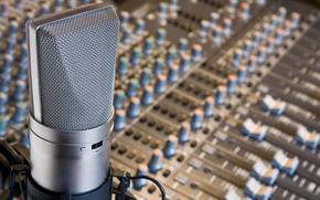 microphone, panel, studio