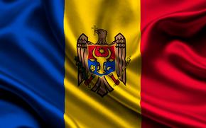 moldova, satin, flag, Moldova, Atlas, flag