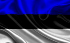 estonia, satin, flag, Estonia, sateen, flag