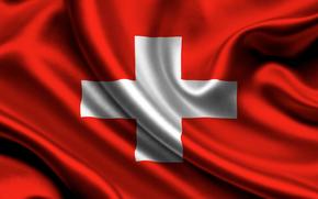 switzerland, satin, flag