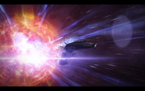 Mass Effect, masa Effect3, masa, efecto, Normanda, explosin, enviar, Espacio