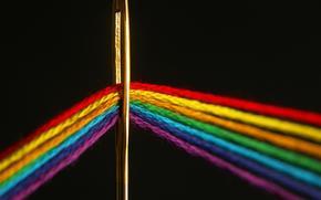 цвет, спектр, нить, игла