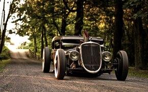 Автомобиль, Обоя, Форд, Модель, А, ХотРод, Красивая, Машина, Мощь, Сила, Ford