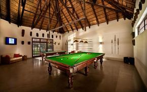 billiards, interior, style, billiard room, cue, ball, table, sofa, TV, room