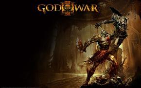 Игра, воин, битва, клинки, спартанец, броня, арт