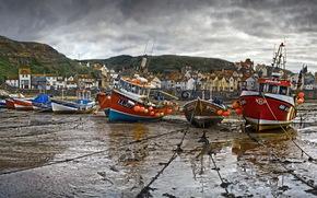 England, Staytes, Boat, boats, Mountains, landscape