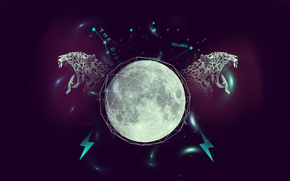 leopard, moon, Star, lightning, line, purple
