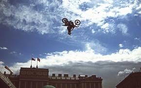 Bike, motorcycle, jump, show, Sport, Motofreestyle, St. Petersburg