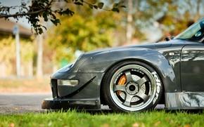 grigio, macchina, Auto, Metallico, Porsche