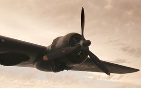 самолёт, крыло, авиация
