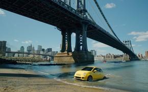 publicidad, EE.UU., Amrica, Nueva York, puente, Ciudad, la superficie