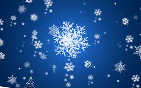snow, snowflake, Tree