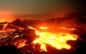 inferno, lava, incandescente, paesaggio, natura