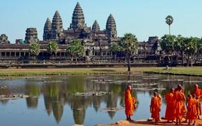 ancient civilizations, Cambodia, temple, Angkor Wat