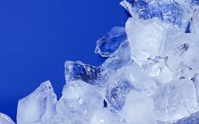 ghiaccio, forato, pezzi