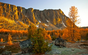 autumn, Mountains, stones, landscape