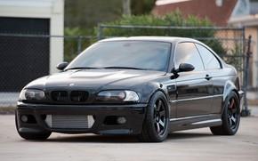 BMW, schwarz, Vorderansicht, Reflexion, CDs, Wolf, BMW