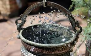 water, fountain, spray
