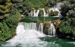 river, vodapady, bush, landscape