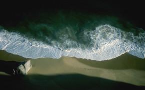 море, солнце, океан, волны, пена, небо, берег