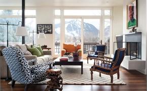 interior, style, design, home, villa, cottage, living room