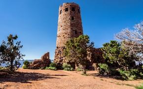 fortress, sky, Trees, Arizona, USA
