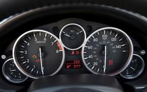 Mazda, speedometer, Sensors, devices, salon