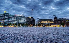 Finland, sky, lights, helsinki