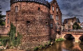 Germany, Bdingen, river, bridge