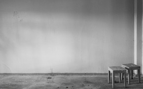 Minimalismo, Ha olvidado, artculos, abandonado, arquitectura, interior, ambiente, habitacin, silla, pared, desolacin, muebles