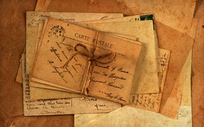 Vintage, letras, Mercadoria, Papel, velho, Envelopes