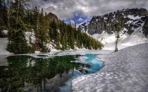 fiume, Montagne, paesaggio