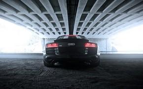 Car, machinery, bridge, back of, Audi